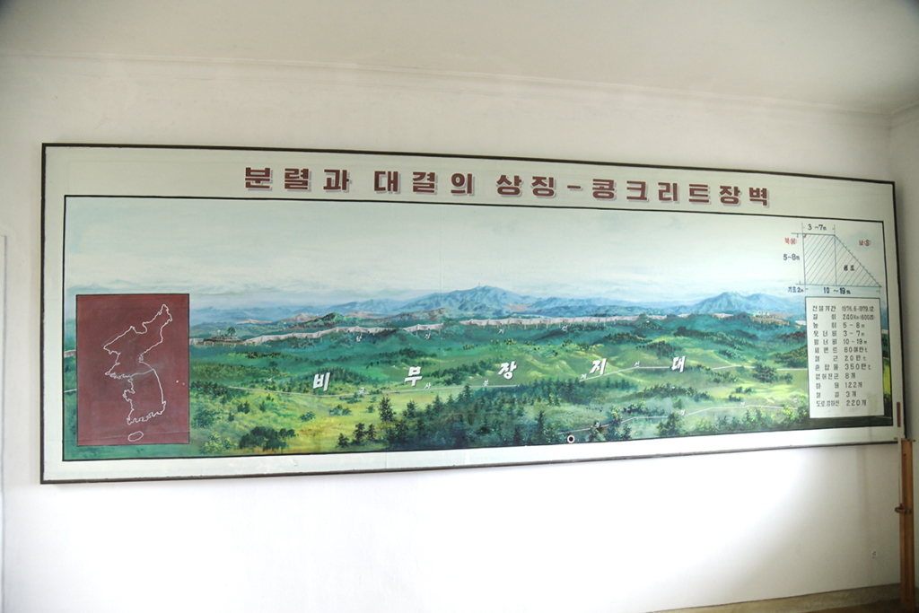 北朝鮮と韓国の国境ライン