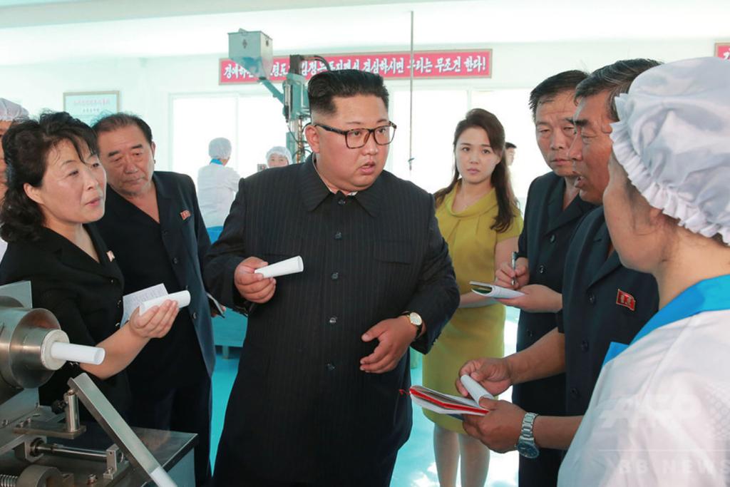 北朝鮮の化粧品工場